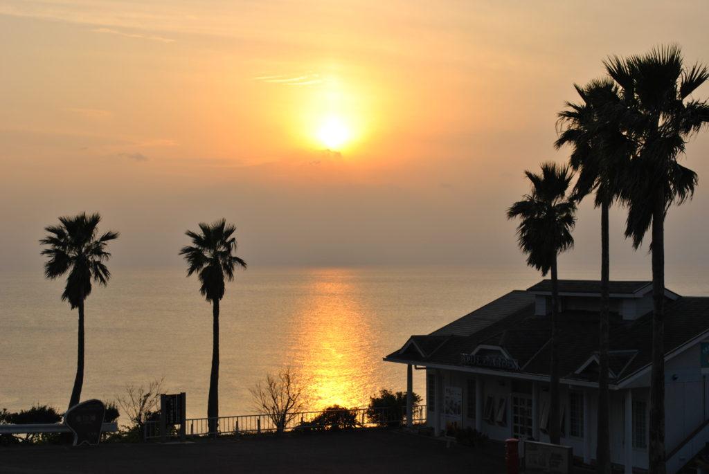 下田の夕陽
