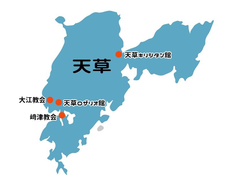 観光スポットの地図