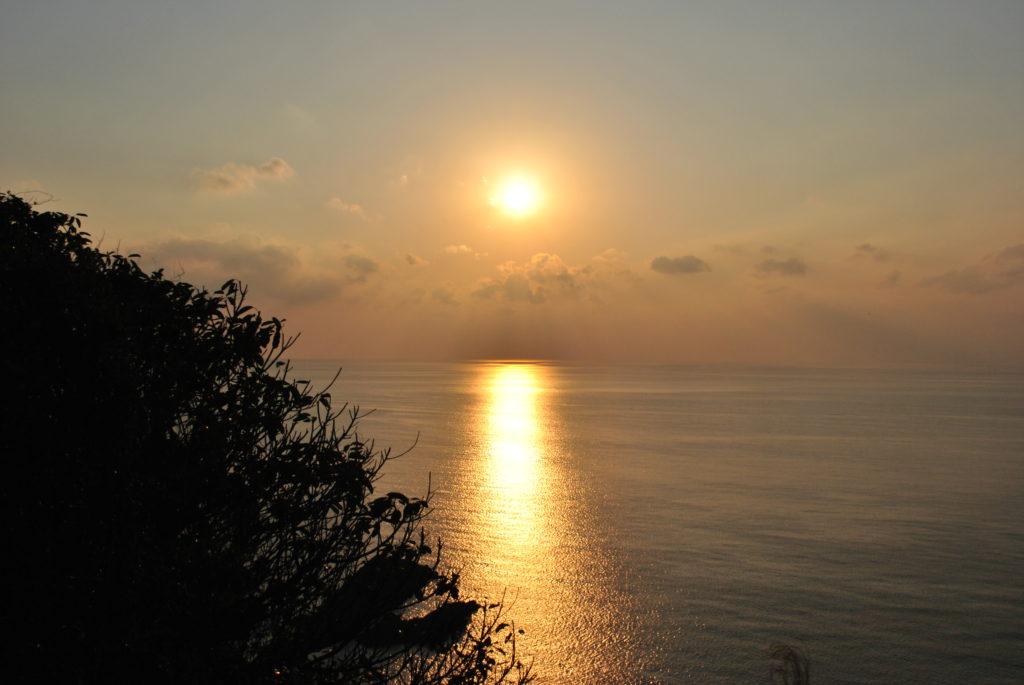 十三仏公園の夕陽