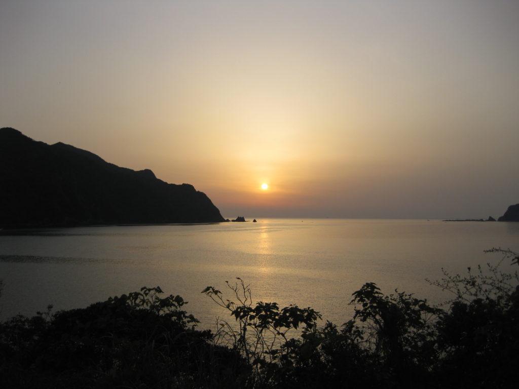 拝瀬・鳴瀬の夕陽
