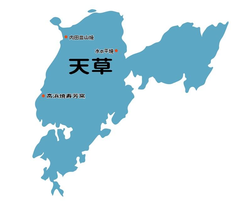 窯元の地図