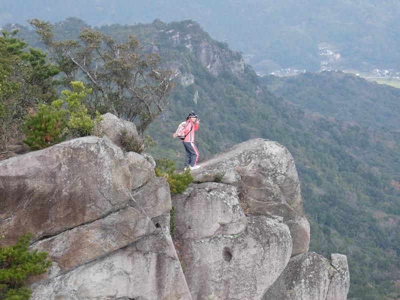 ライオン岩で記念撮影